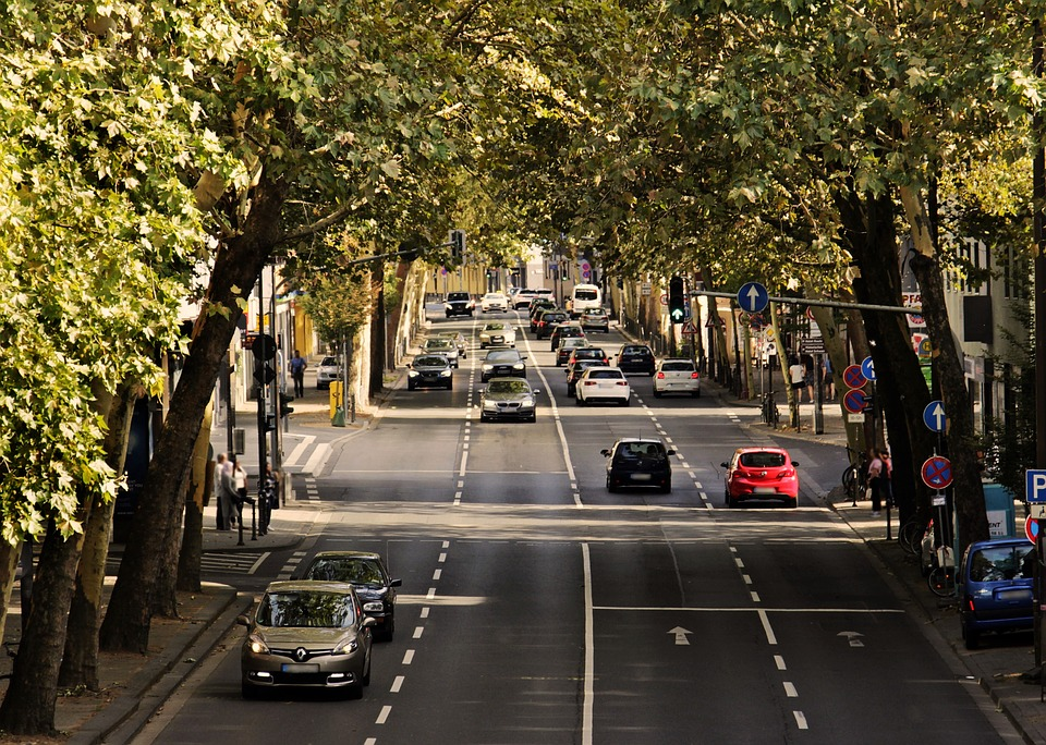 biler, vej, trafik, bevægelse